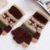 2017 gants chauds de renne de jacquard de vente