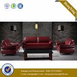 Sofa moderne de bureau de divan de cuir véritable de meubles de bureau (HX-CF013)