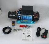 4X4 12V/24V Gleichstrom-elektrische Handkurbel-synthetische Seil-Handkurbel (9500lb)