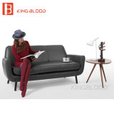 Sofá gris del cuero del color del estilo italiano para los muebles europeos
