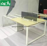 Mesa popular do computador da mobília de escritório da venda quente com pé do aço inoxidável
