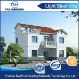 Chambre préfabriquée de pavillon de structure métallique de 2 étages pour le famille