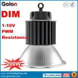 Drei in einem der Dimensionsfunktions-1-10V PWM hohen Bucht-Licht 200W Signal-des Widerstand-110lm/W Dimmable LED