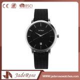 Vente en gros de montre de cuir de noir de mode d'usine