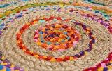 Coperta rotonda tradizionale cinese del sisal della iuta e del cotone