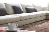 Caliente-Vendiendo el sofá amarillento de la tela de la sala de estar casera de los muebles fijado (HC574)