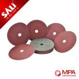 Discos que enarenan del metal abrasivo del óxido de aluminio para la madera y el metal de pulido