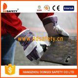 Gant fonctionnant fendu Dlc105 de sûreté de dos de coton de gant en cuir de vache