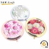 De goedkope PromotieZak van Giften/Make-up/Kosmetische Spiegel met het EpoxyEmbleem van de Sticker/van de Druk
