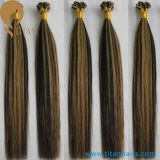 工場WhoelsaleのブラジルのバージンのRemyのケラチンの人間の毛髪の拡張