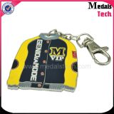 Medalhas Tech Supplier Wholesale Custom Gold Sticker Epoxy Metal Keychain