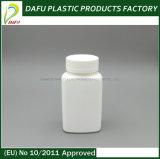 [هدب] [120مل] لون مستطيل بيضاء طبّيّ حبة بلاستيك زجاجة
