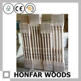 Material de estilo indio decorativo de madera de pino de escalera Barandilla