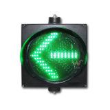 Luz verde de la señal de tráfico del brillo de la luz 300m m de la flecha