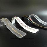 Crémaillère acrylique d'organisateur de support d'étalage de bracelet de présentoir de colliers de bijou