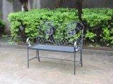 Armrestsが付いている屋外のFoldable鉄の庭のベンチ