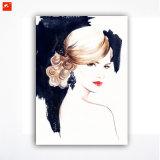 Печать искусствоа холстины портрета женщины акварели