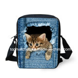 Cute Pet Print Sacs scolaires Denim Girls Enfants Mini Mochila Student Kids Boys School Bag