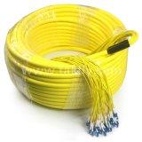 Структуры распределения сердечников FTTH кабель оптического волокна пробки LSZH крытой 96 свободный