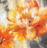 Jolie peinture à l'huile fabriquée à la main de fleur de couleur pour la décoration à la maison