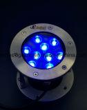 Los cambios de luz antioxidante piscina LED 9W LED de color RGB