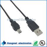 Cámara digital de datos cuerda de carga del cable mini USB