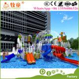 O parque da água da fibra de vidro caçoa o parque interno ao ar livre da água para o hotel