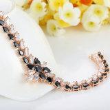 Bijou coréen en pierre noir en gros de bracelet d'en cuivre de mode pour des filles
