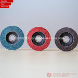 "5 ""Aluminum Threaded Flap Disc T29 Cónico para Pulido y Rectificado"