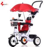 Entfernbares Kabinendach mit UVschutz-Baby-Dreirad, Kinder Fahrrad, Kind-Fahrrad mit Muttergesellschaft-Griff-Stab