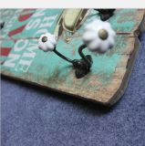 Les crochets de bride de fixation d'étalage de chapeau et de couche, murent les crochets en bois de crémaillère de couche