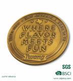 Goldfarben-runde Form mit kundenspezifischer Entwurf Enamle Andenken-Münze