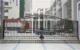 Haohan 고품질 외부 안전 장식적인 단철 담 문 5