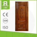 Entrée principale en bois solide intérieure populaire de portes