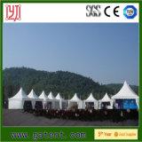 Pagoda provisório que anuncia a barraca para a venda