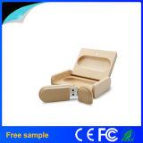 포장 상자를 가진 자연적인 나무로 되는 장방형 8GB USB 지팡이
