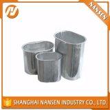 shell de aluminio cilíndrico del condensador electrolítico del shell de aluminio del surco de la parte inferior plana de los 55m