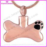 Forma Ijd8085 hueso de perro del acero inoxidable 316L cremación del animal doméstico del collar pendiente de las cenizas del recuerdo del Memorial Locket