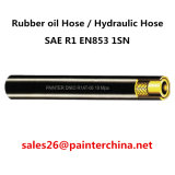 Boyau à haute pression de pétrole de SAE R1 En853 1sn de boyau hydraulique en caoutchouc de boyau/une couche de fils d'acier tressés