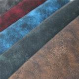 Кожа PU хорошего качества для высокосортных ботинок или мешков (HS-M042)