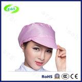 Anti-estático gorra de ESD para salas blancas sombrero de seguridad con agujeros de ventilación