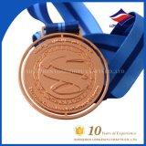 Medaglia su ordinazione del ricordo della medaglia del premio di riunione di sport della medaglia del rame del metallo