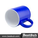 tasses changeantes de la couleur 11oz (bleues) SANS cadre (B2CB-04FBN)