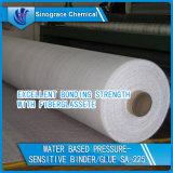 Cahier sensible à la pression acrylique à base d'eau pour la colle de fibre de verre