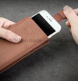 Realer lederner Telefon-Kasten für iPhone mit Funktion