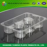 Neue Produkte löschen Wegwerfplastikgemüse und tragen Tellersegment Früchte