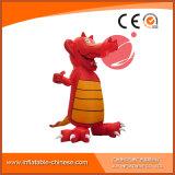 Mascotte gonfiabile C1-204 del fumetto del coccodrillo di colore rosso