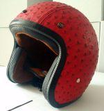 De uitstekende Gediplomeerde PUNT van de Helm van het Gezicht van het Leer van de Motorfiets van het Type Open