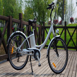 """고아한 26 """" 36V 250W 여자 도시 도로 전기 자전거"""