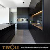 목제 까만 부엌 단위 유럽식 Tivo-0277h